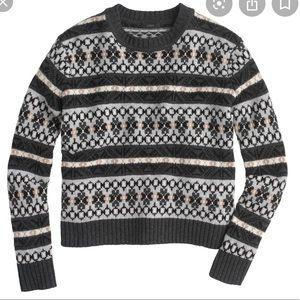 J.Crew classic fair isle sweater